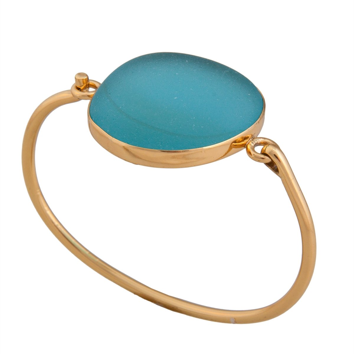 alchemia-blue-recycled-glass-bangle - 1 - Charles Albert Inc