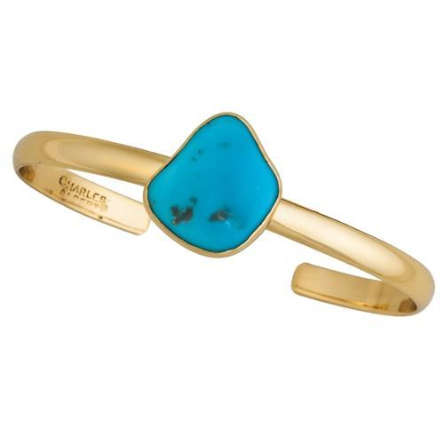 Alchemia Sleeping Beauty Turquoise Mini Cuff | Charles Albert Jewelry