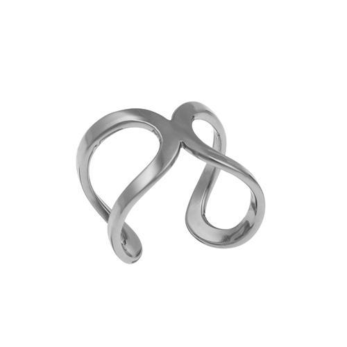 Sterling Silver Infinity Mid-Finger Ring
