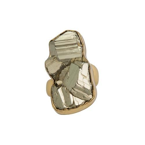 Alchemia Pyrite Adjustable Ring | Charles Albert Jewelry