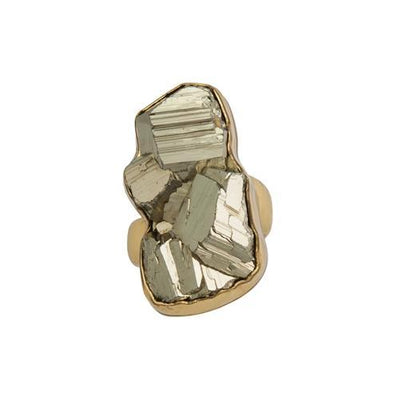 alchemia-pyrite-adjustable-ring - 1 - Charles Albert Inc
