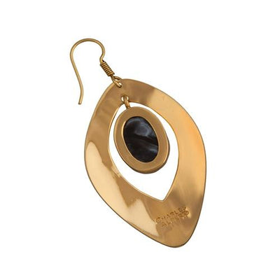 alchemia-druse-drop-earrings - 3 - Charles Albert Inc