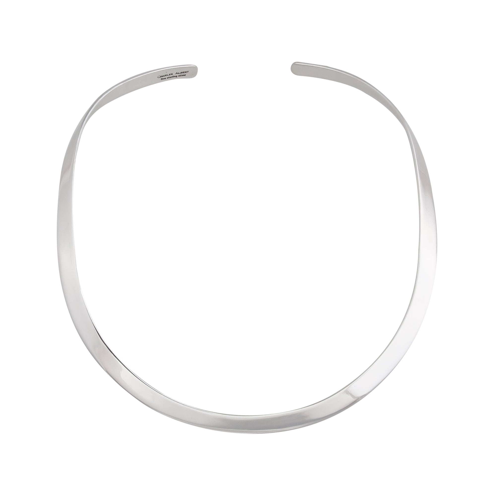Sterling Silver Open Round Neckwire | Charles Albert Jewelry