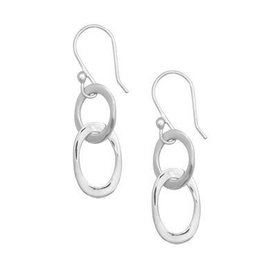 Sterling Silver Lightweight Chain Link Earrings