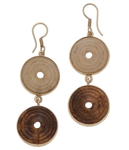 Alchemia Wood Circle Earrings | Charles Albert Jewelry