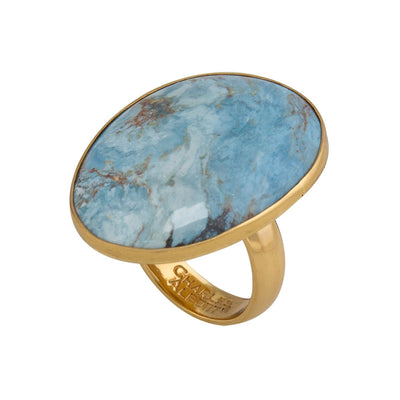 Alchemia Aztec Lapis Adjustable Ring