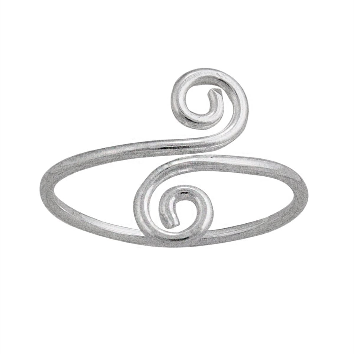 sterling-silver-swirl-ring - 1 - Charles Albert Inc