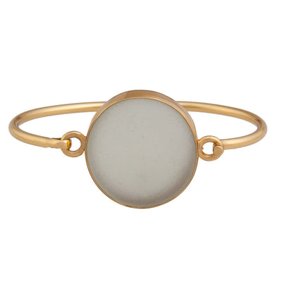 Alchemia White Recycled Glass Bangle