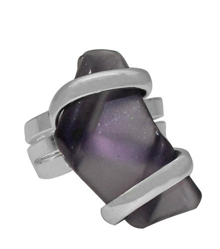 Alpaca Recycled Glass Freeform Rings - Purple | Charles Albert Jewelry