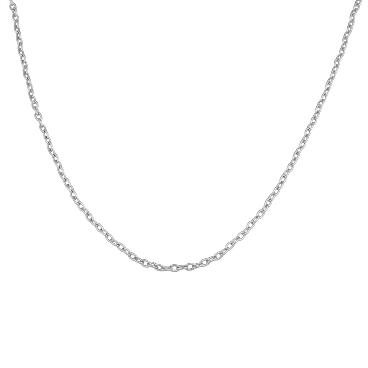 Silver Tone 3mm Base Metal Cross Chain | Charles Albert Jewelry