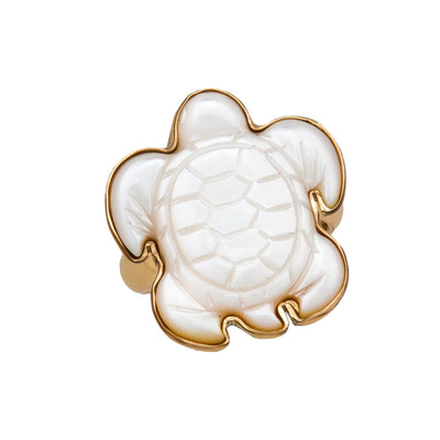 alchemia-mother-of-pearl-sea-turtle-adjustable-ring - 1 - Charles Albert Inc