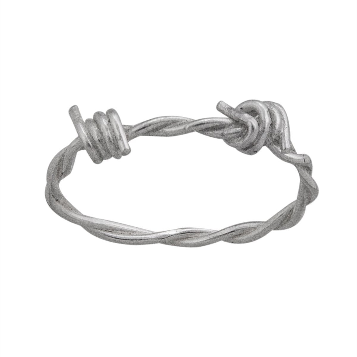 Sterling Silver Barbed Wire Ring | Charles Albert Jewelry
