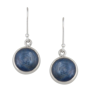 Sterling Silver Kyanite Drop Earrings