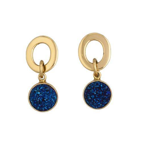 Alchemia Cobalt Druse Post Earrings