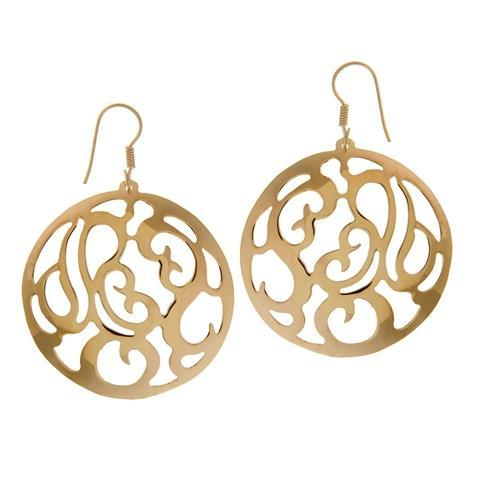 Alchemia Patterned Round Earrings | Charles Albert Jewelry