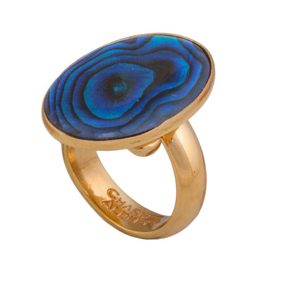 Alchemia Blue Abalone Adjustable Ring