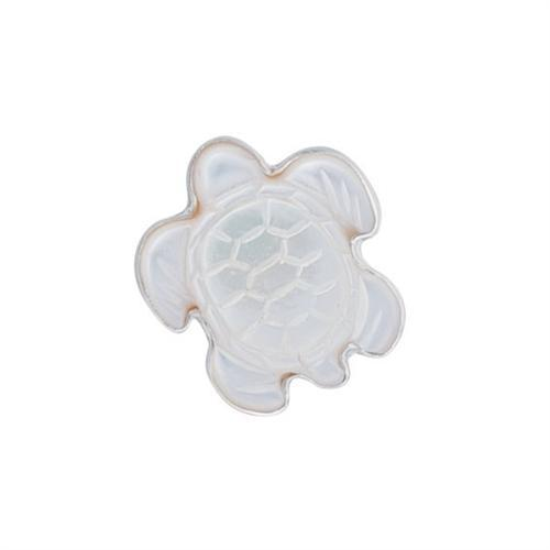 Sterling Silver Mother of Pearl Sea Turtle Adjustable Ring | Charles Albert Jewelry