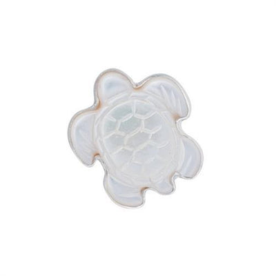Sterling Silver Mother of Pearl Sea Turtle Adjustable Ring