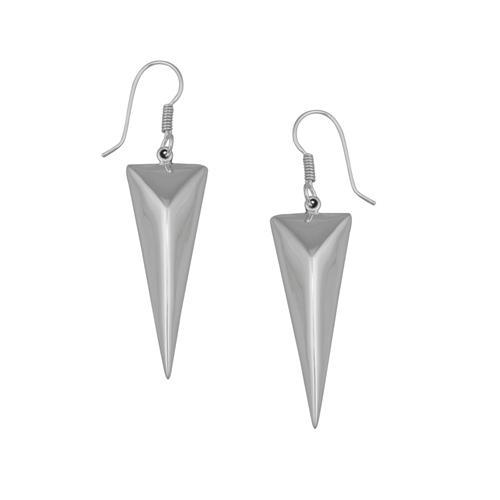 Sterling Silver Pyramid Drop Earrings | Charles Albert Jewelry