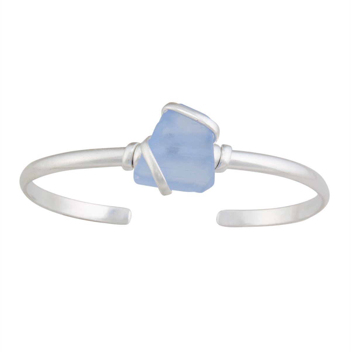 Alpaca Recycled Glass Mini Cuff - Carolina Blue | Charles Albert Jewelry