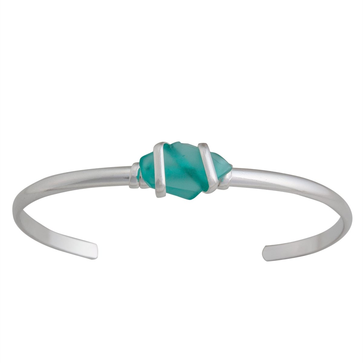Alpaca Recycled Glass Mini Cuff - Mint | Charles Albert Jewelry