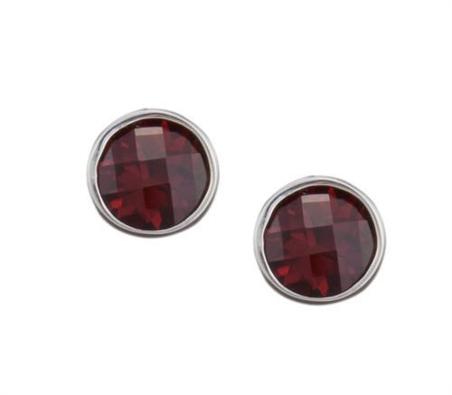 sterling-silver-garnet-post-earrings - 1 - Charles Albert Inc