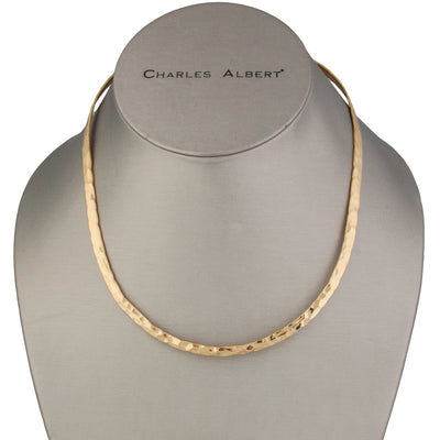 alchemia-hammered-oval-neckwire - 3 - Charles Albert Inc