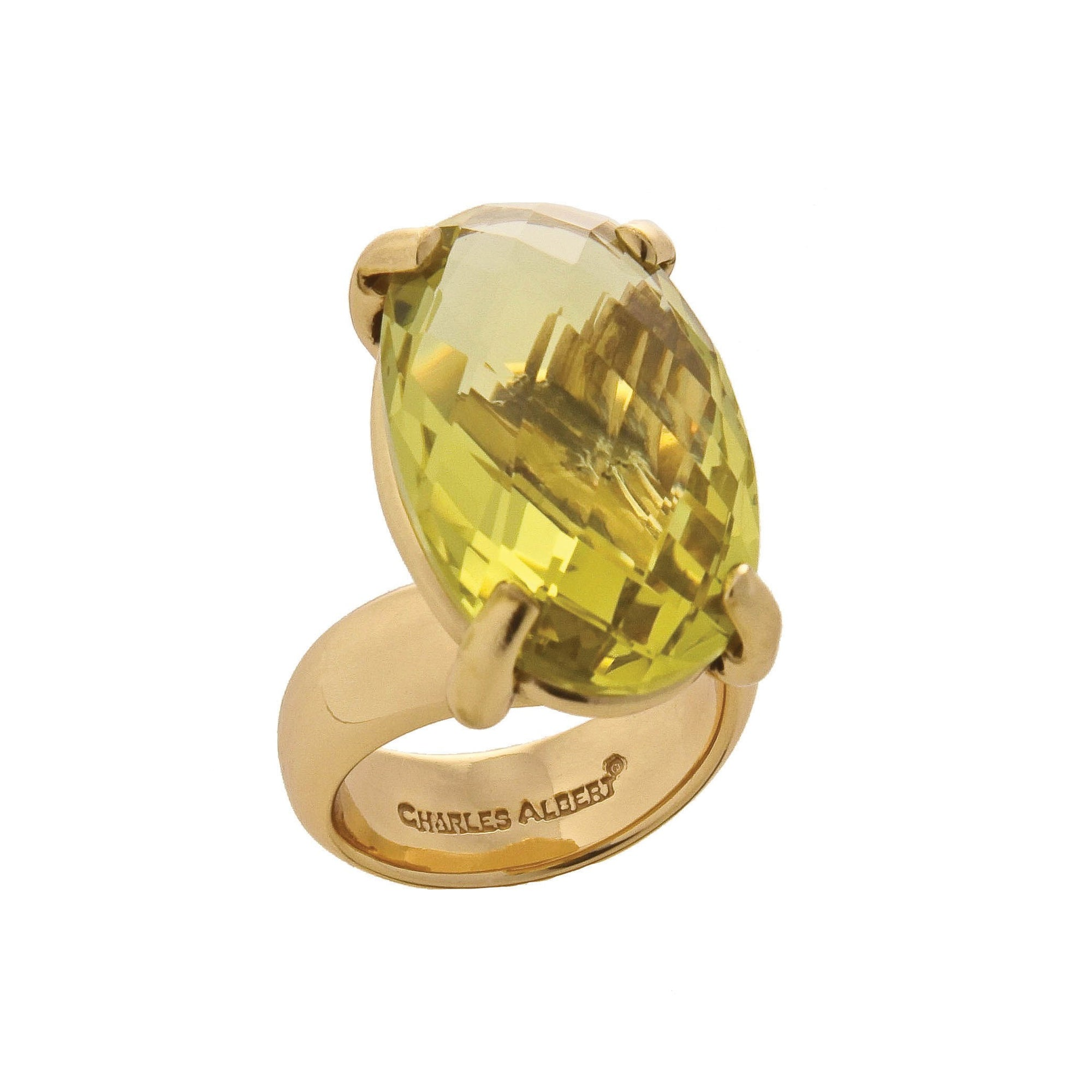 Alchemia Citrine Prong Set Adjustable Ring | Charles Albert Jewelry