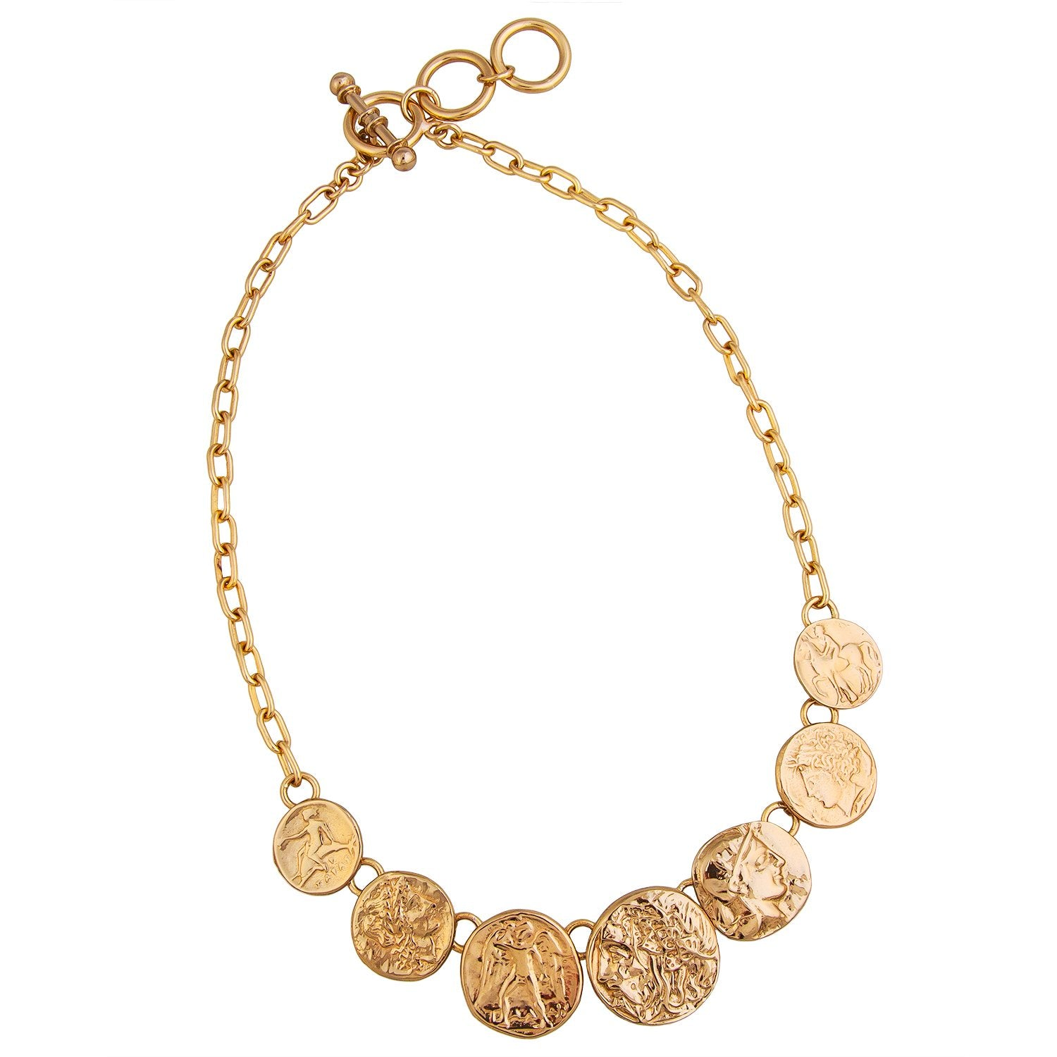 Alchemia Replica Greek Coin Necklace | Charles Albert Jewelry