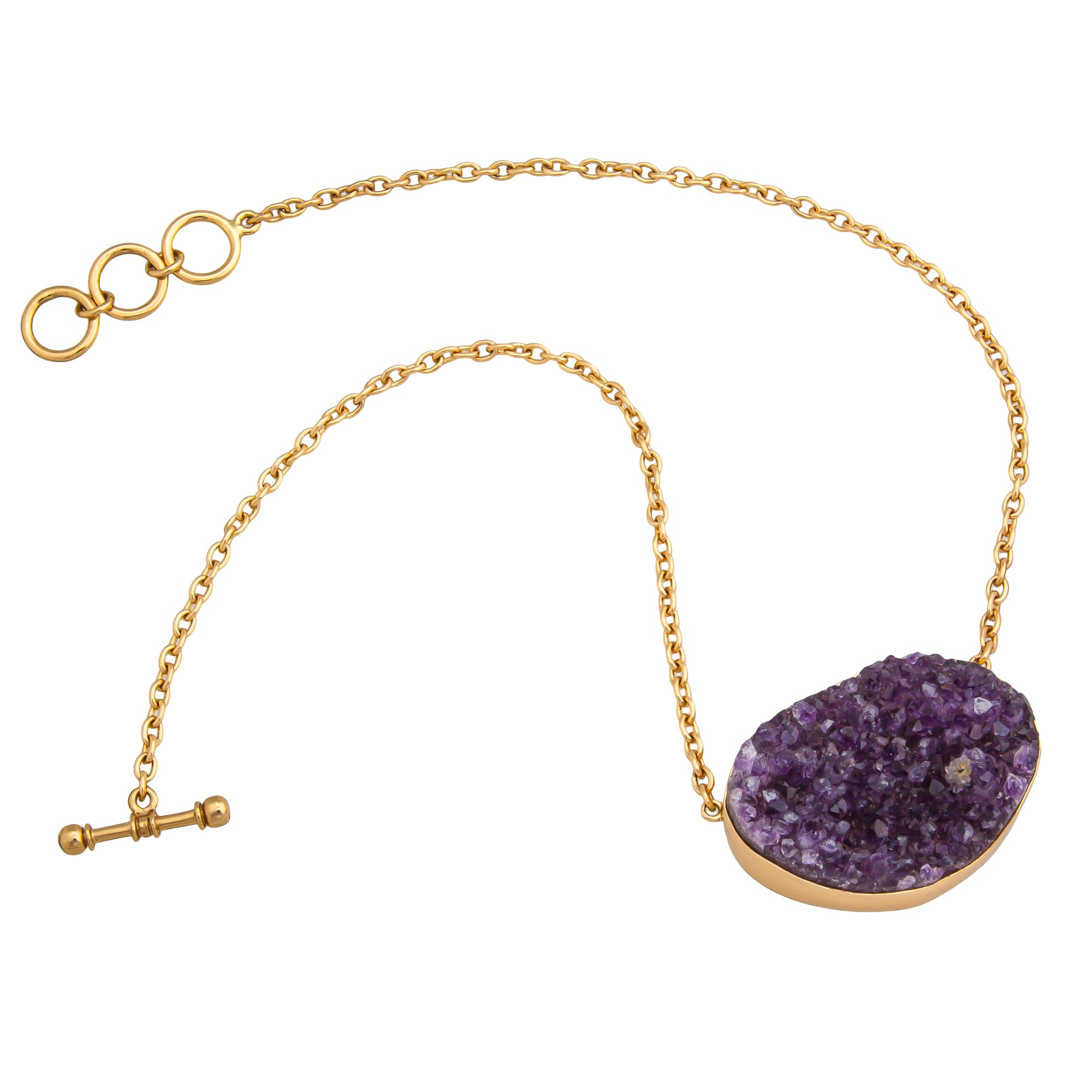 Alchemia Amethyst Geode Necklace
