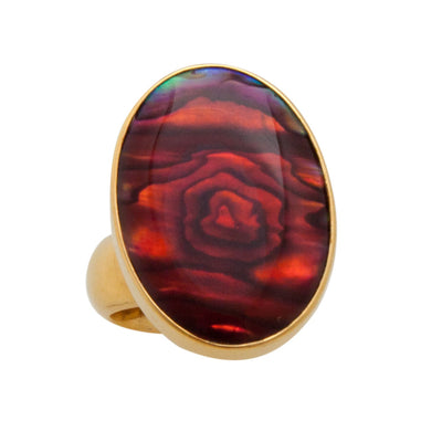 Alchemia Red Abalone Adjustable Ring