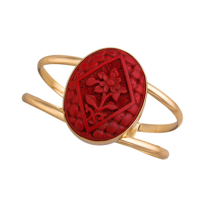 alchemia-cinnabar-flower-double-band-cuff - 1 - Charles Albert Inc