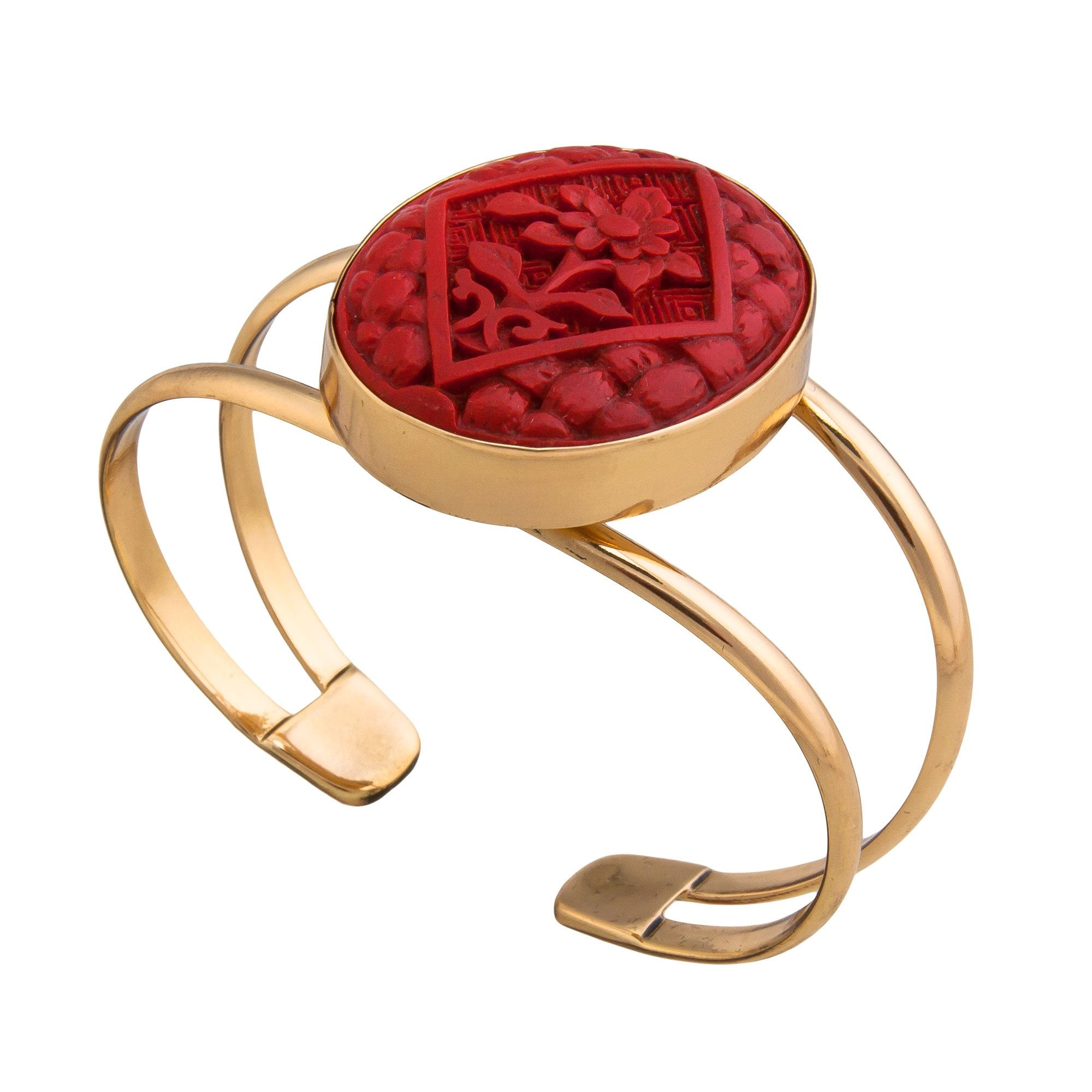 Alchemia Cinnabar Flower Double Band Cuff | Charles Albert Jewelry