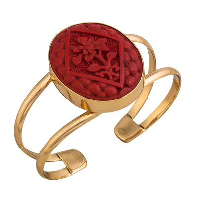 alchemia-cinnabar-flower-double-band-cuff - 3 - Charles Albert Inc