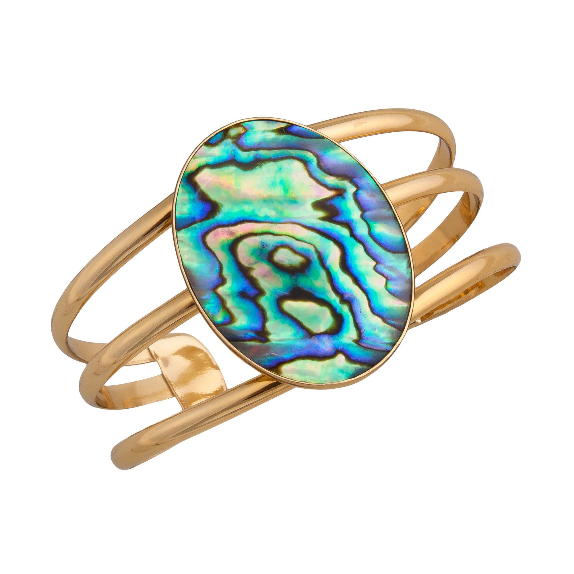 Alchemia Natural Abalone Multi Band Cuff