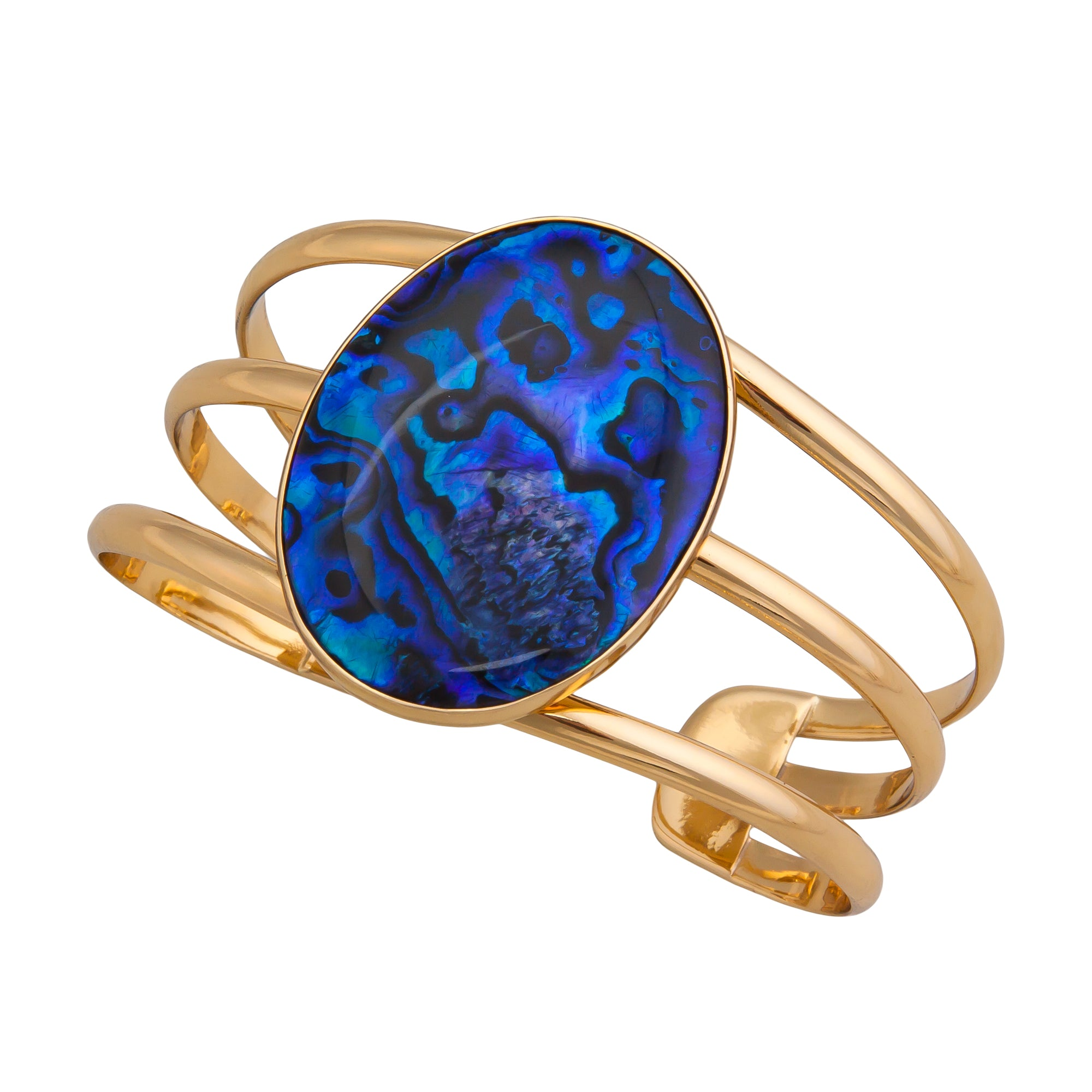 Alchemia Blue Abalone Multi Band Cuff