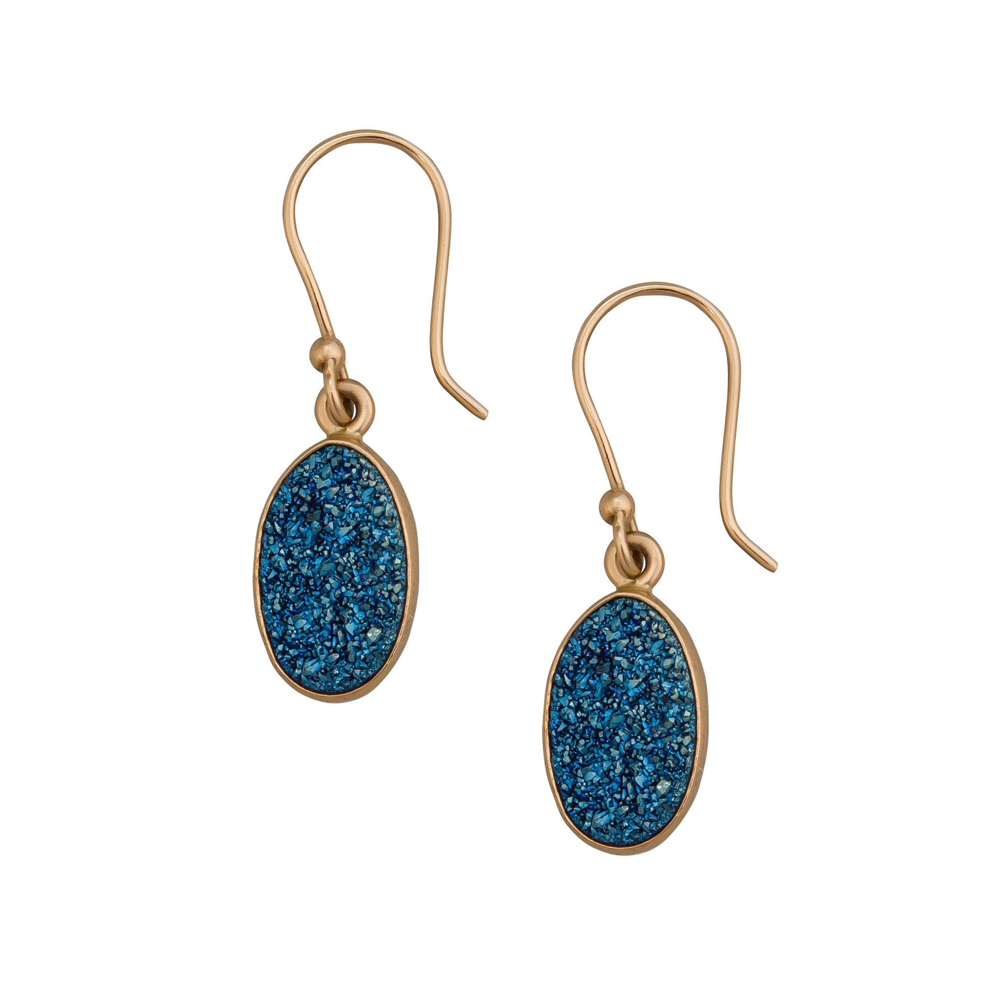 Alchemia-Blue-Druse-Elongated-Drop-Earrings-1-Charles Albert Inc
