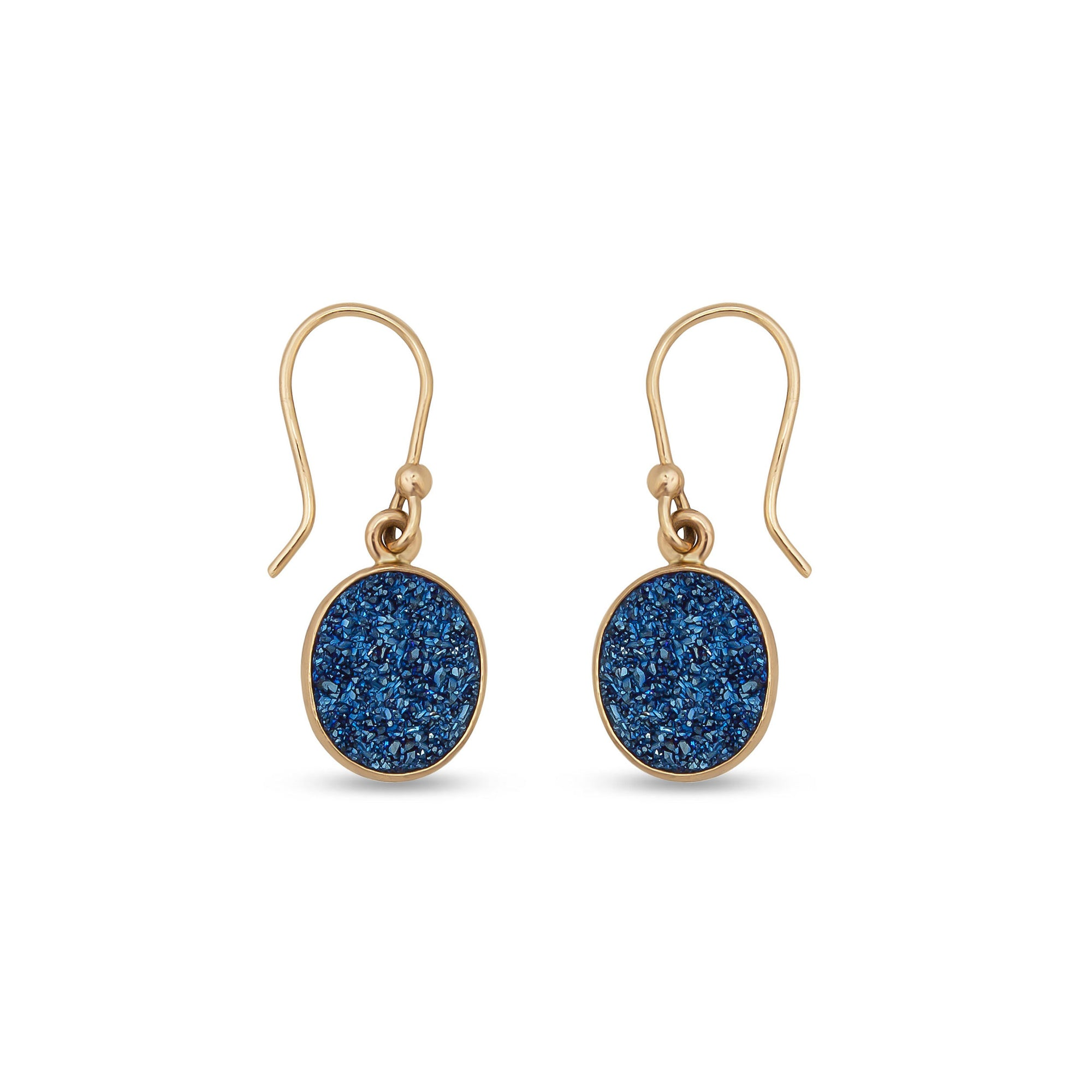 Alchemia-Blue-Druse-Oval-Drop-Earrings-1-Charles Albert Inc