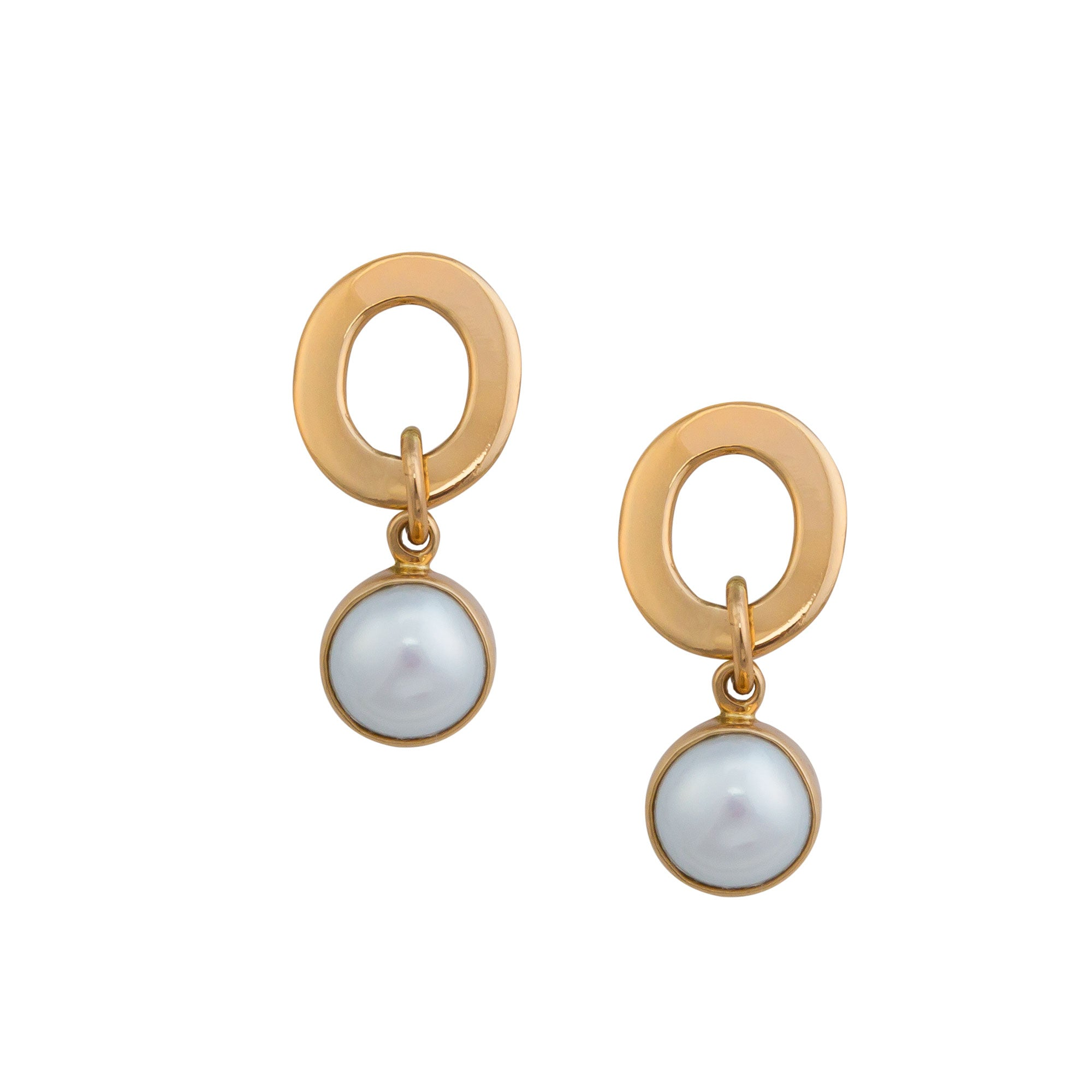 Alchemia Pearl Round Post Earrings | Charles Albert Inc