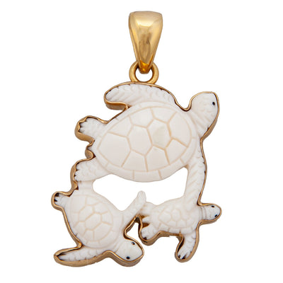 Alchemia Bone Turtle Family Pendant