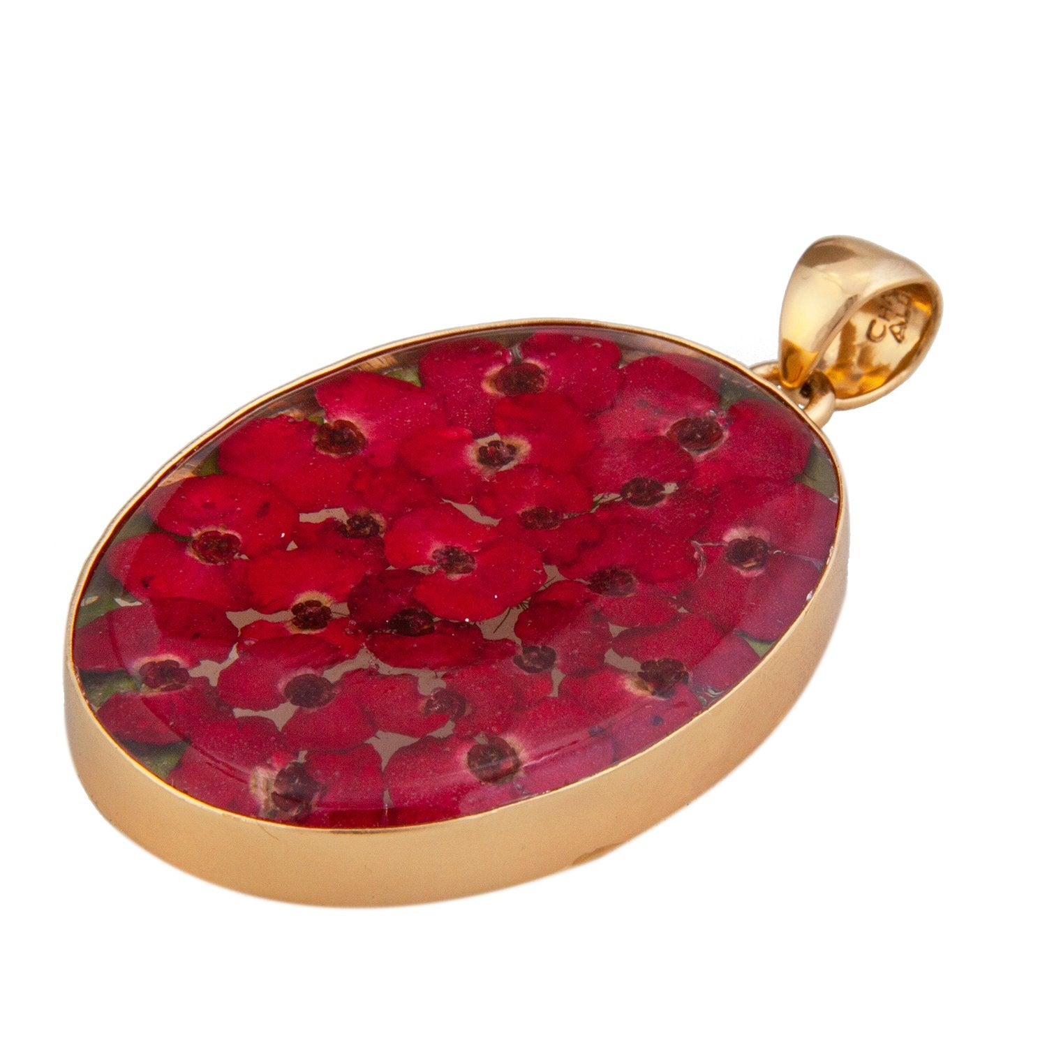Alchemia Red Dried Flower Pendant | Charles Albert Jewelry