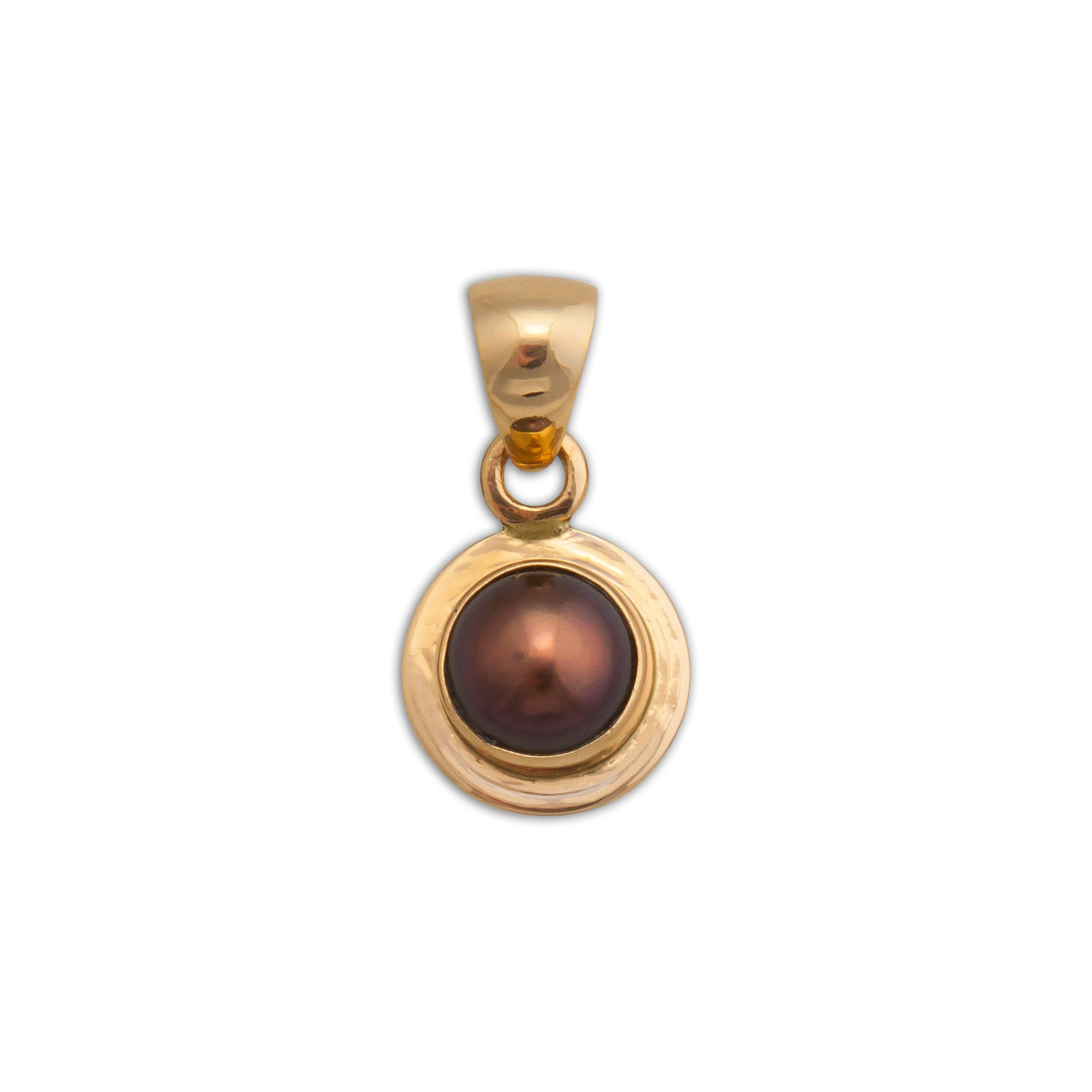 Alchemia-Bronze-Pearl-Pendant-with-Detailed-Edge-1-Charles Albert Inc