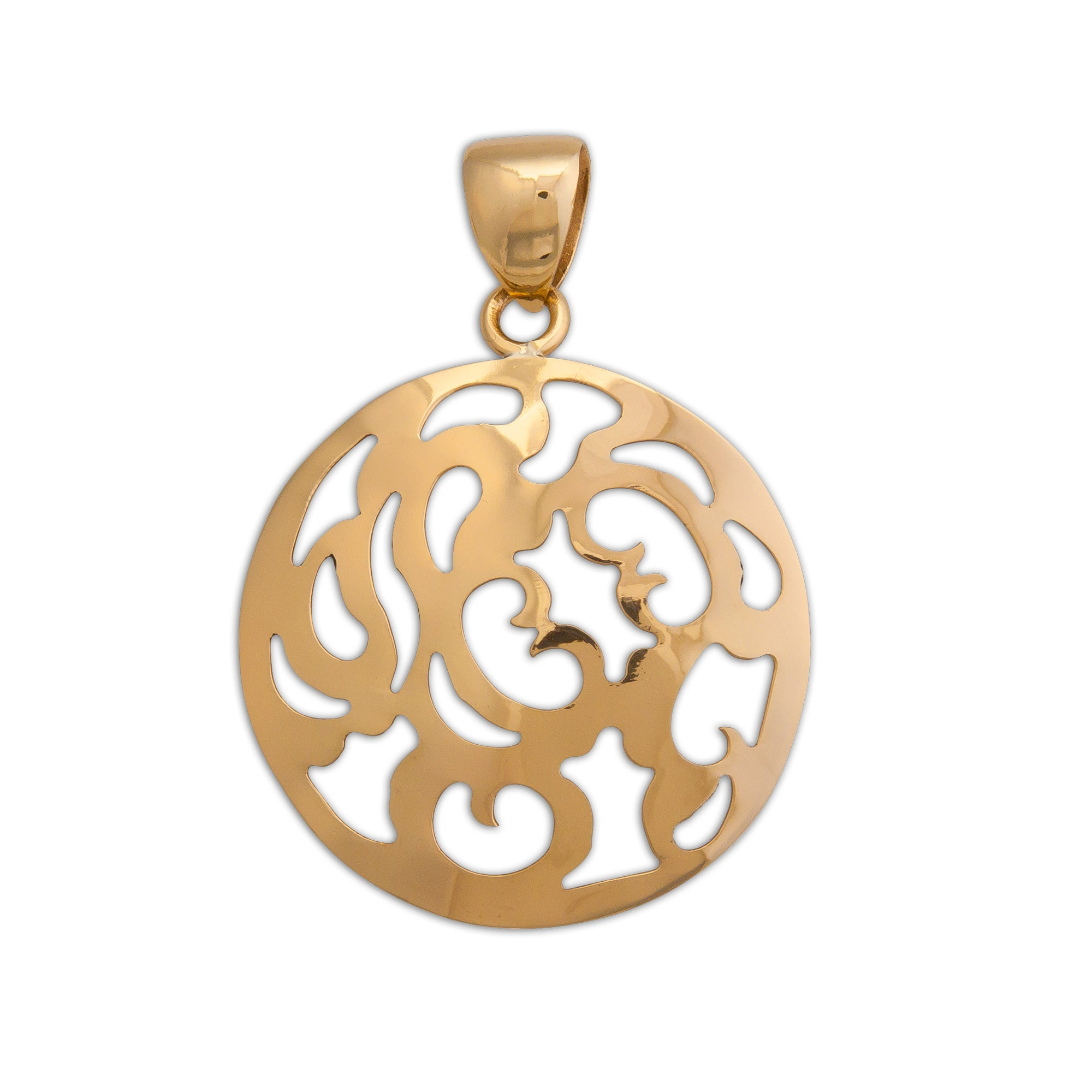 Alchemia-Round-Patterned-Pendant-1-Charles Albert Inc