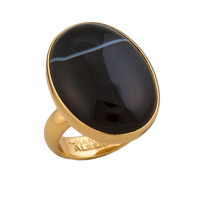 Alchemia Sardonyx Adjustable Ring