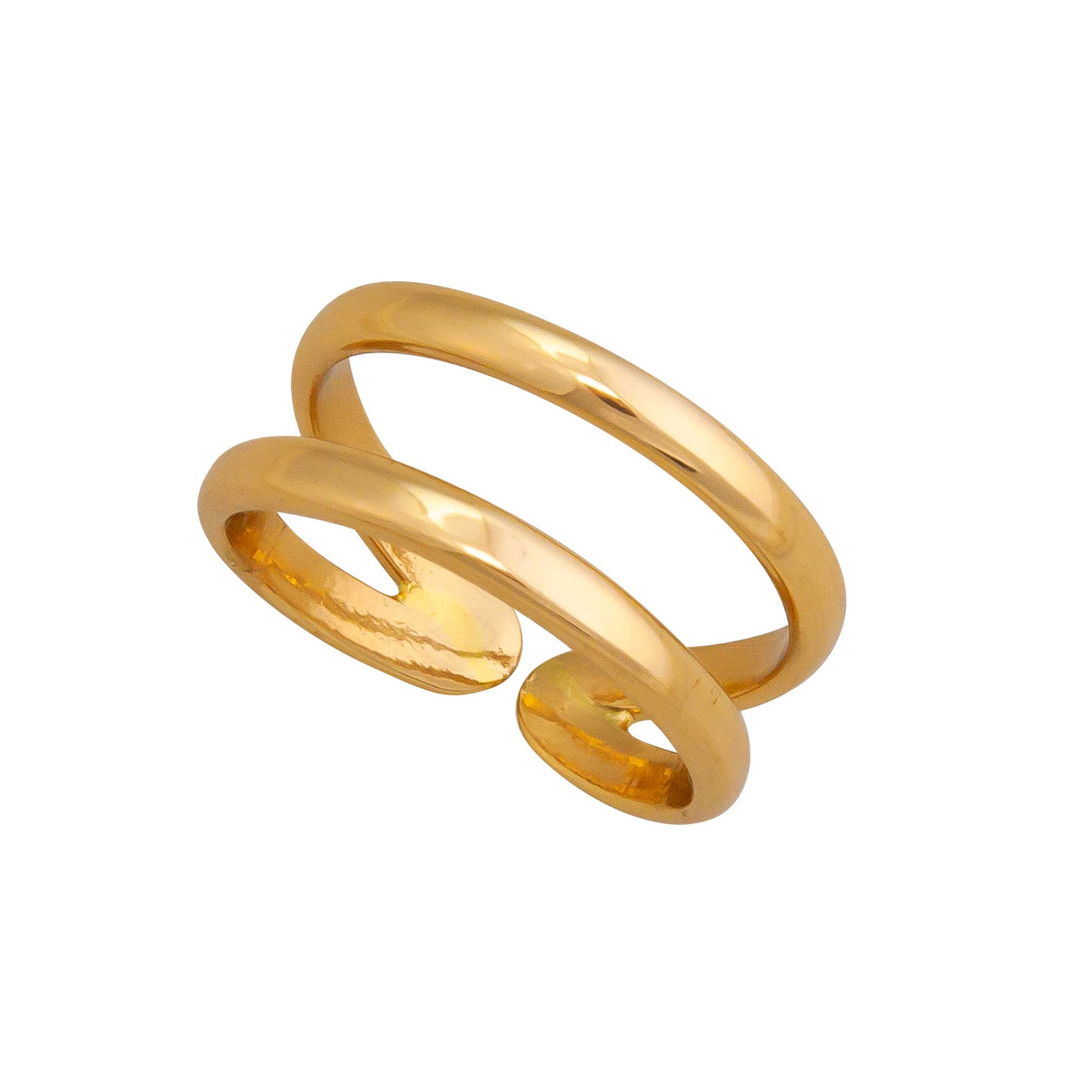 Alchemia Double Band Adjustable Ring | Charles Albert Jewelry