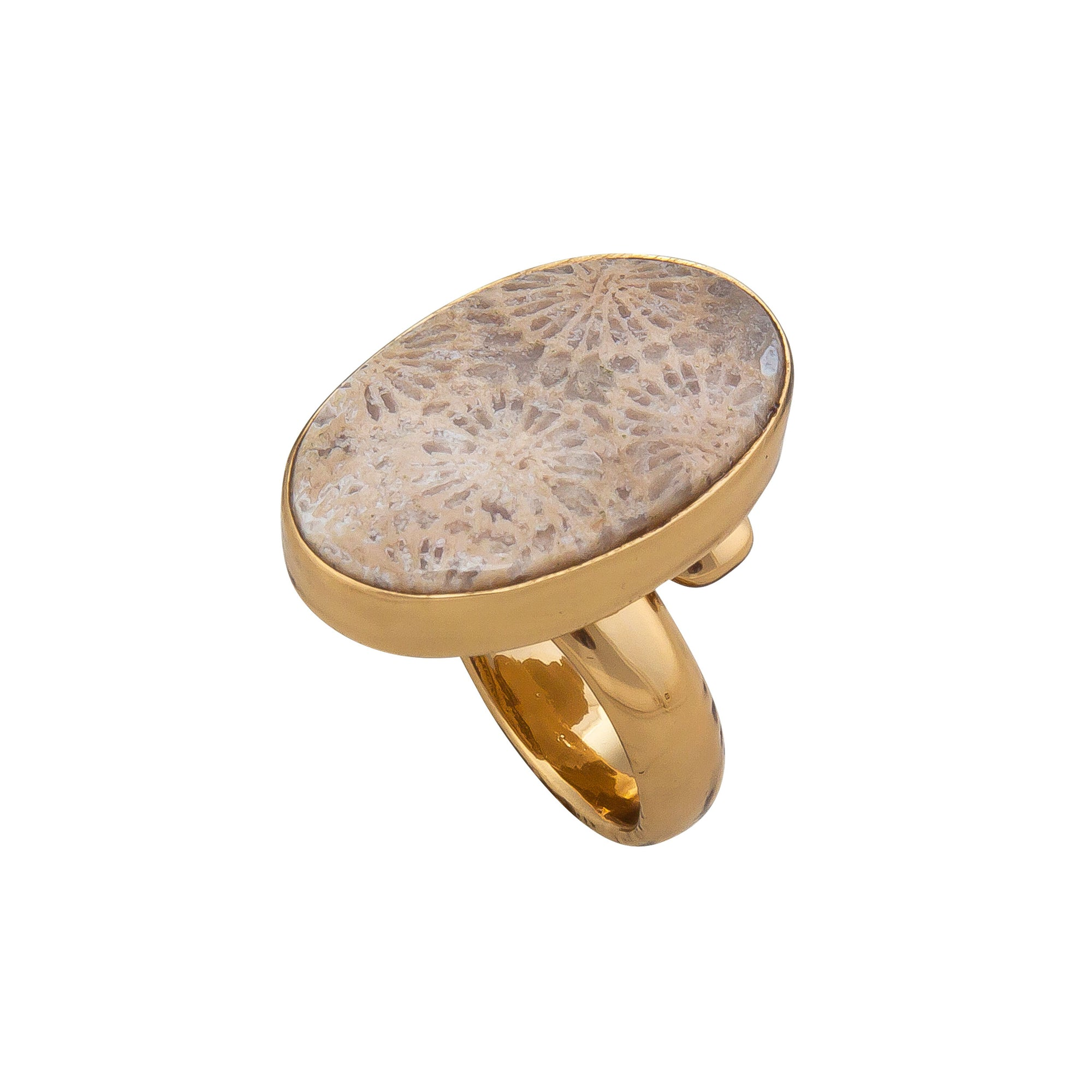 Alchemia-Fossilized-Coral-Adjustable-Ring-1-Charles Albert Inc