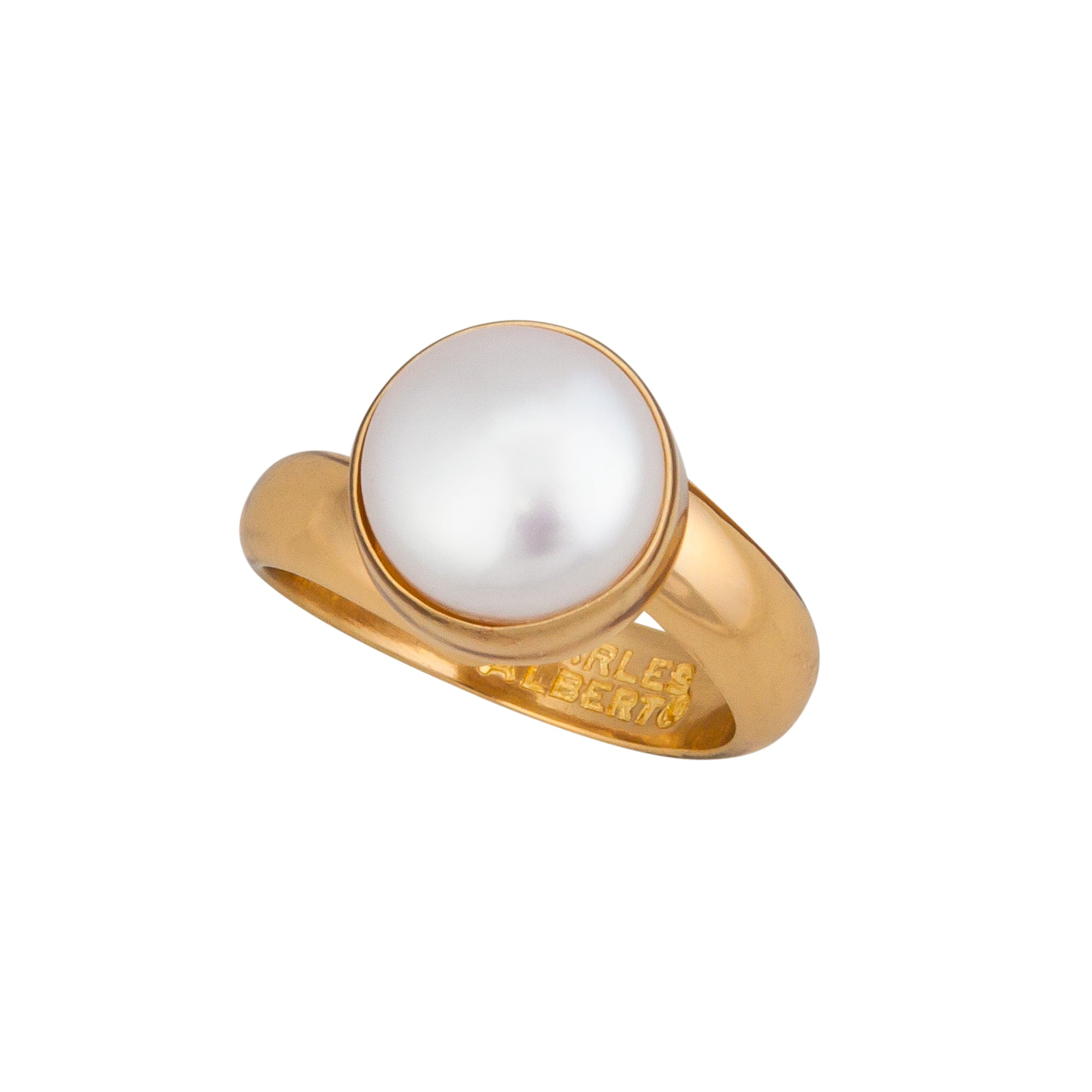 Alchemia Single Pearl Ring