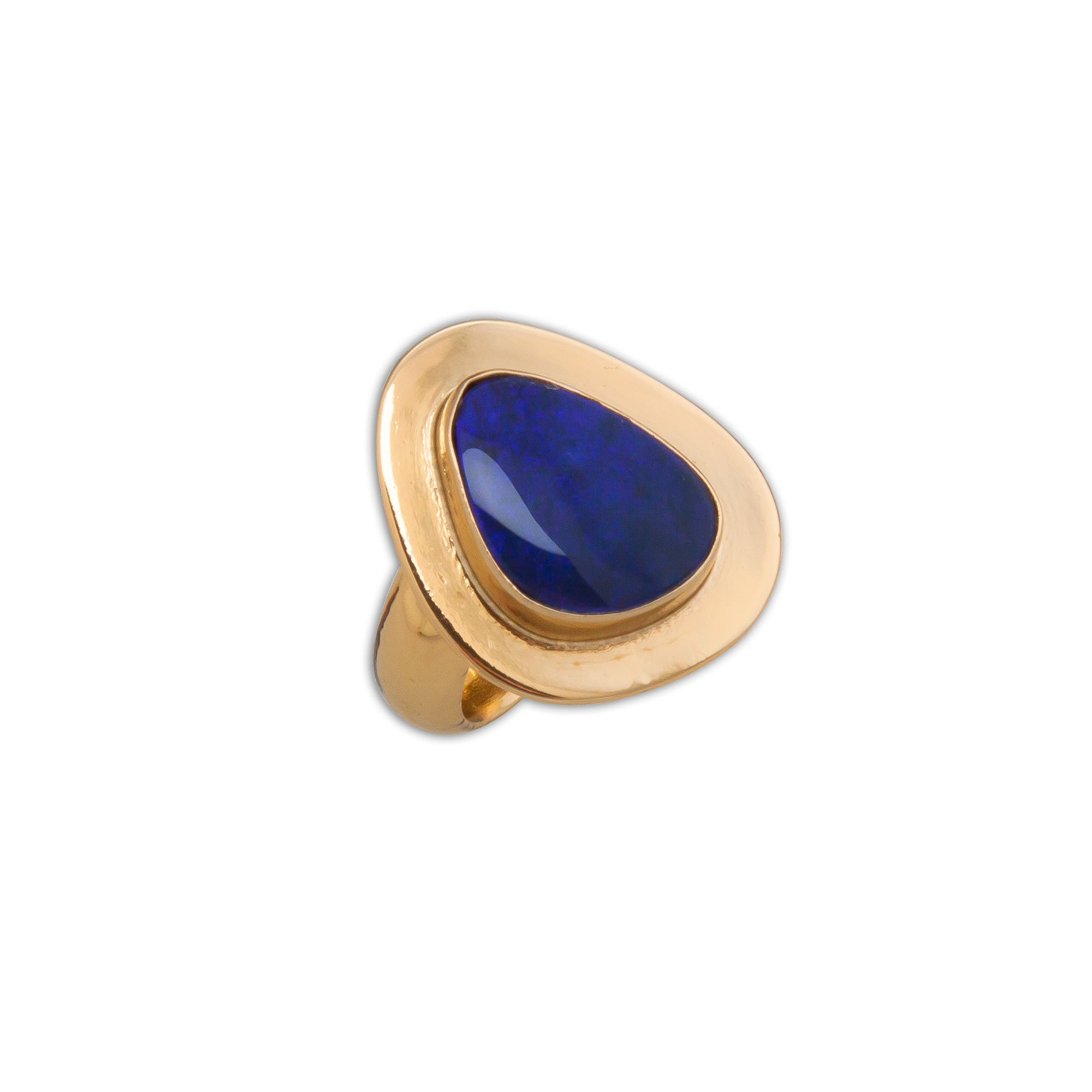 Alchemia Opal Adjustable Ring with Detailed Edge | Charles Albert Jewelry