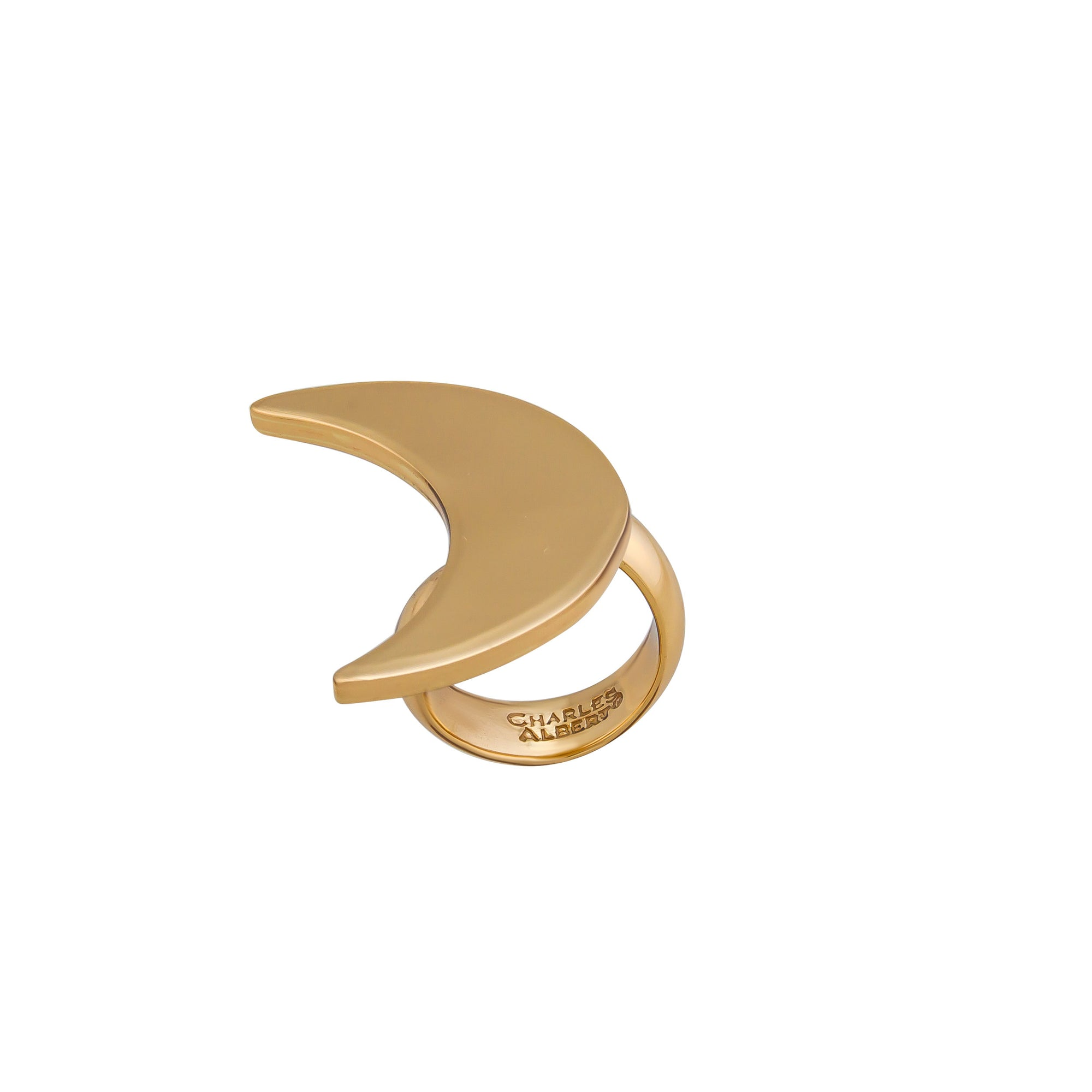 Alchemia Large Moon Adjustable Ring | Charles Albert Jewelry