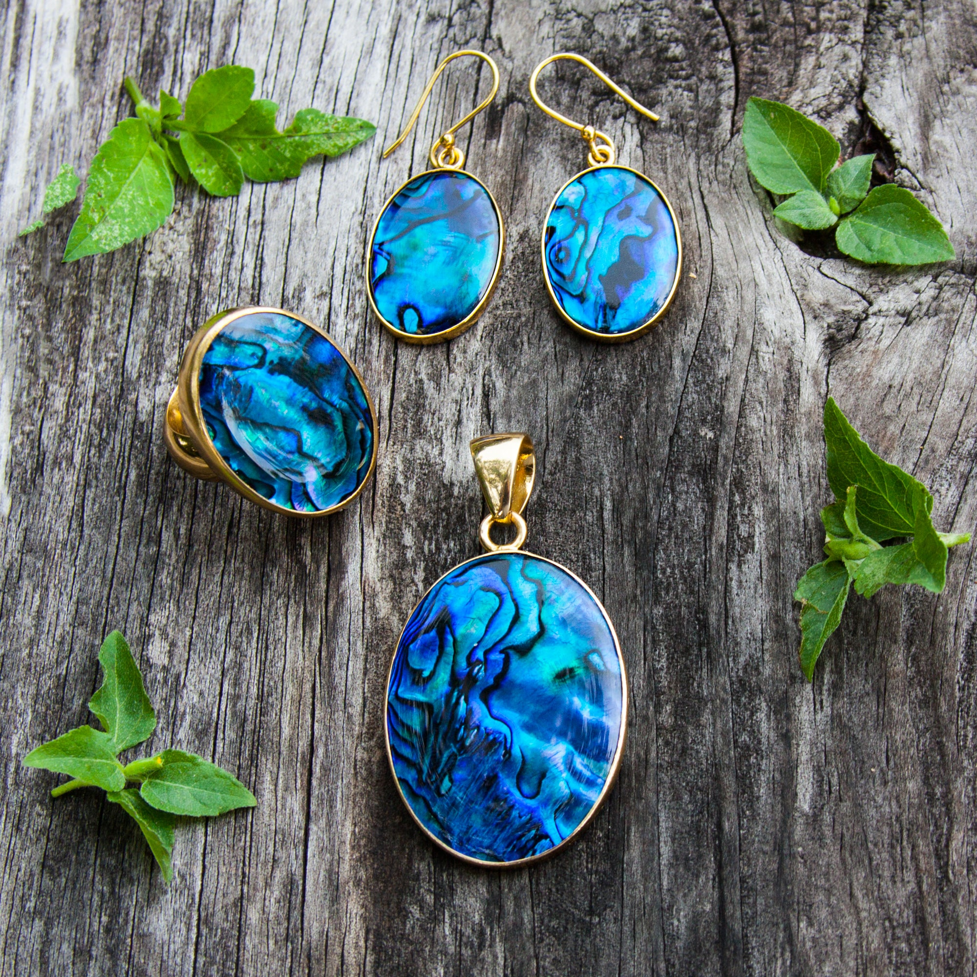 Alchemia Blue Abalone Earrings | Charles Albert Jewelry